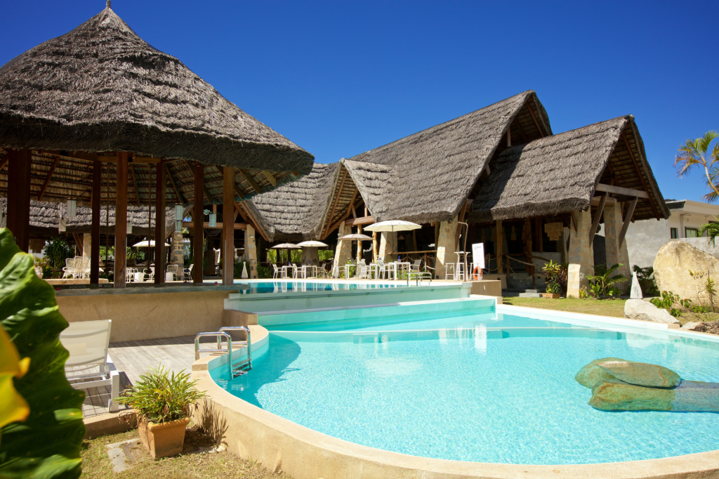 Pool at Les Lauriers Eco Hotel & Restaurant Praslin